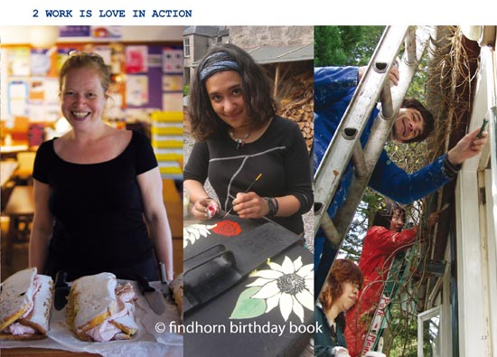 Findhorn Birthday Book - chapter Love is Work In Action