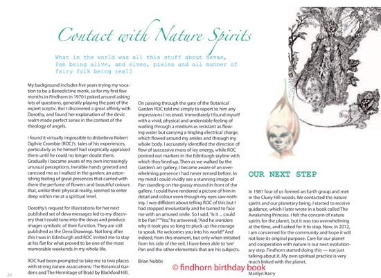 Findhorn Birthday Book - Nature Spirits